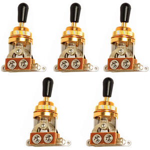 5-Pcs-3-Way-Guitar-Pickup-Selector-Toggle-Switch-Gold-Deluxe