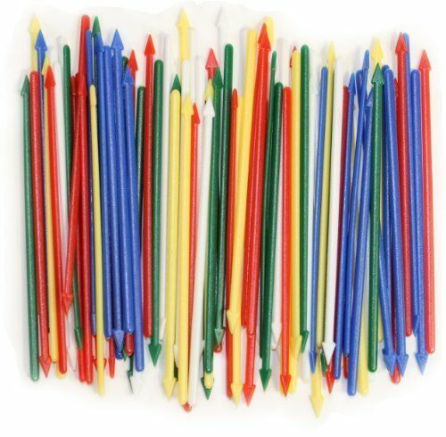 """3.25/"""" Long Assorted Colors Pack of 200 Colorful Cocktail Spears Plastic"""