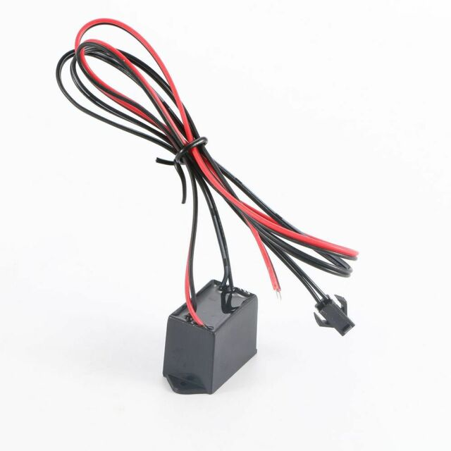 Car Interior EL Glow Cable Strip Light Inverter Supply Adapter Wire Driver DC12V