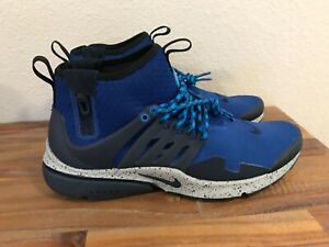 timeless design 7901a 50dc1 Image is loading Nike-Air-Presto-Mid-Utility-Gym-Blue-Grey-