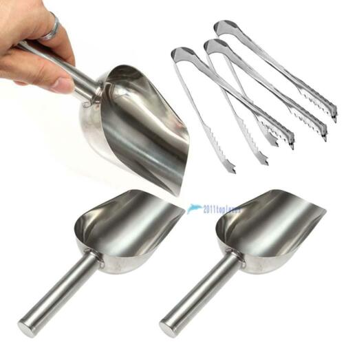 Candy Buffet BBQ Ice Stainless Scoops Tongs Set Wedding Bar Party Kitchen MA
