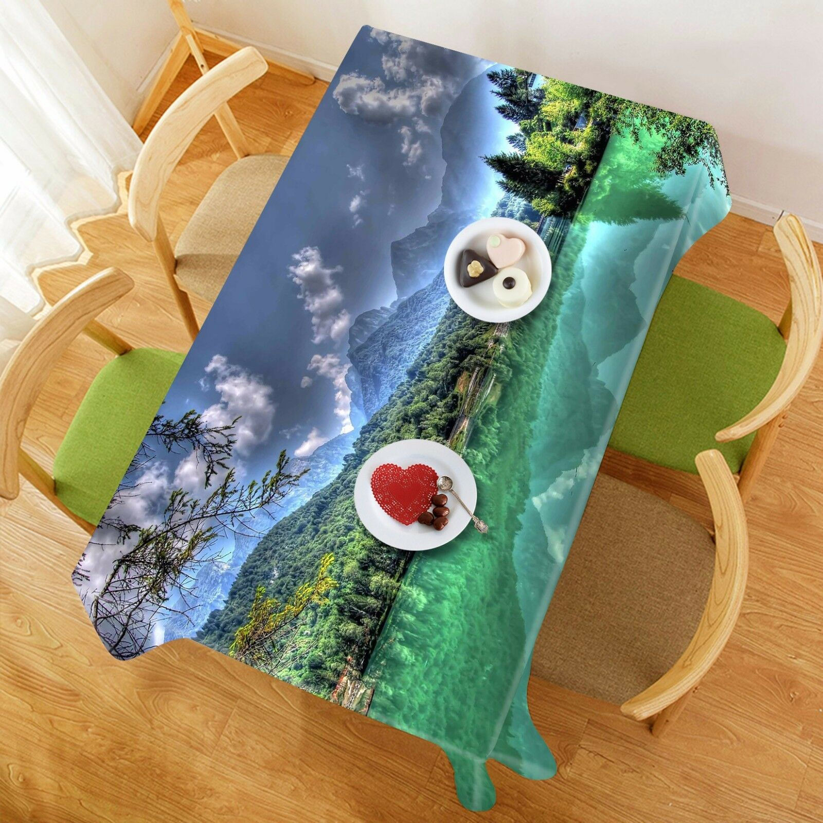 3D Lakes 4931 Tablecloth Table Cover Cloth Birthday Party Event AJ WALLPAPER AU