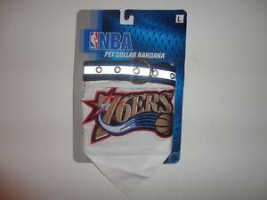 f7c8f582ab25 Image is loading NBA-PHILADELPHIA-76ERS-PET-Adjustable-COLLAR-BANDANA-Size-