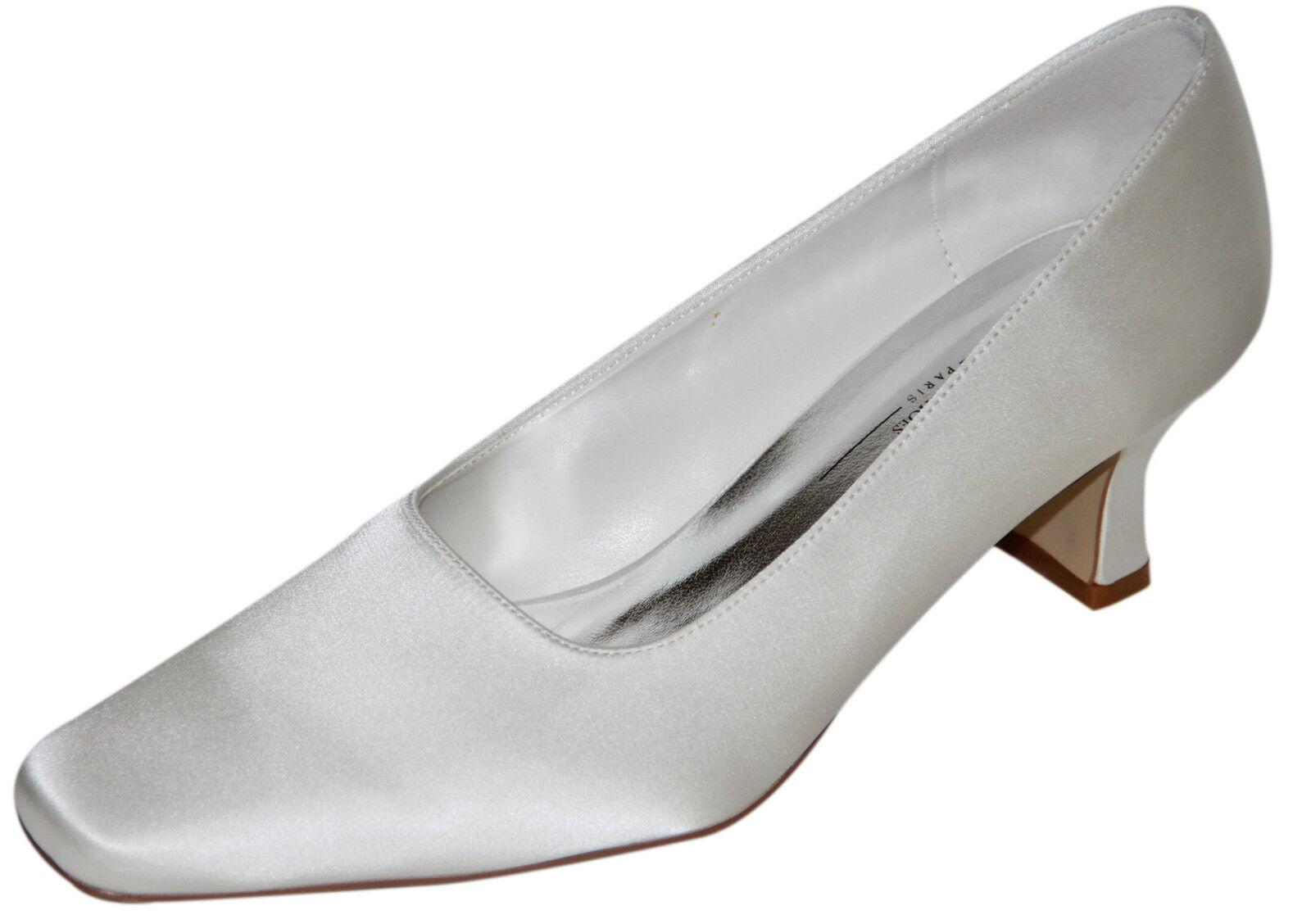 HBH Bridal Shoes Classic Bridal Pumps Satin, without buckle, 5cm Block Heel