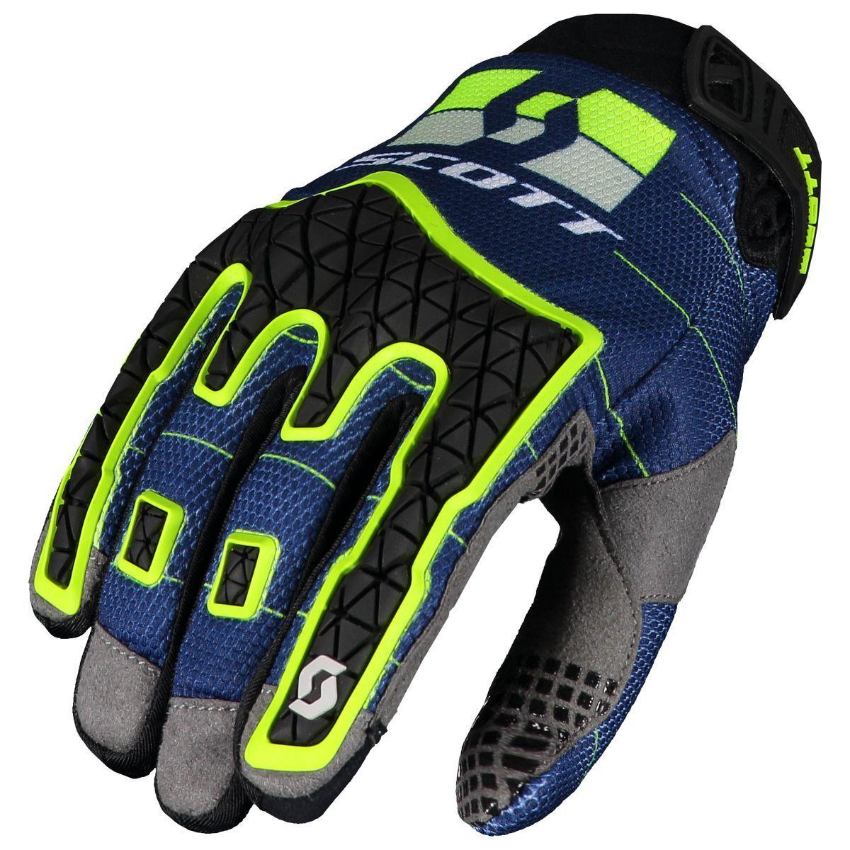 Scott Enduro MX DH blau/gelb Motorrad / Fahrrad Handschuhe blau/gelb DH 2019 4c32fd