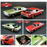 Gmp 1970 Chevy Nova Yenko Deuce - Citrus Green & Cranberry Red Dicast Cars 1:18