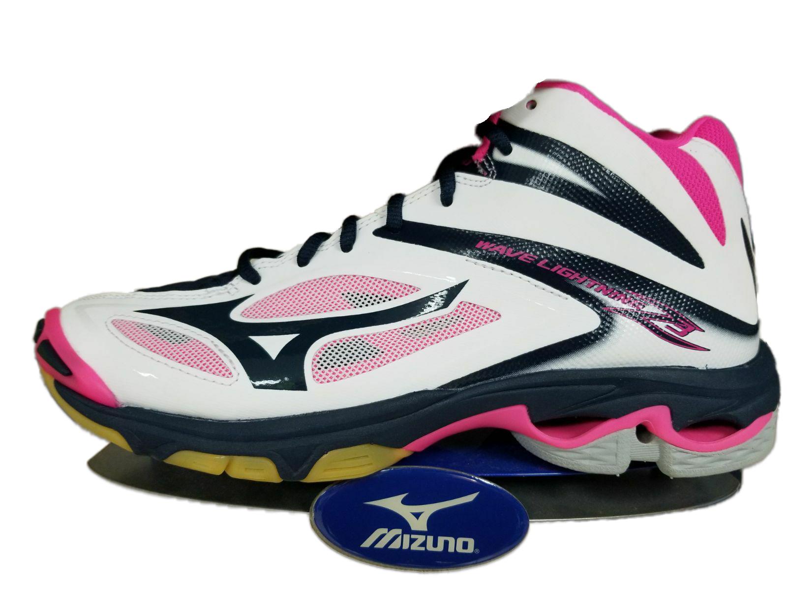 mizuno men's wave lightning z5 indoor court shoe pink color