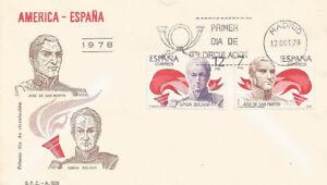 SPD-FDC-Primer-dia-Espana-America-Espana-1978-Edifil-2489-2490