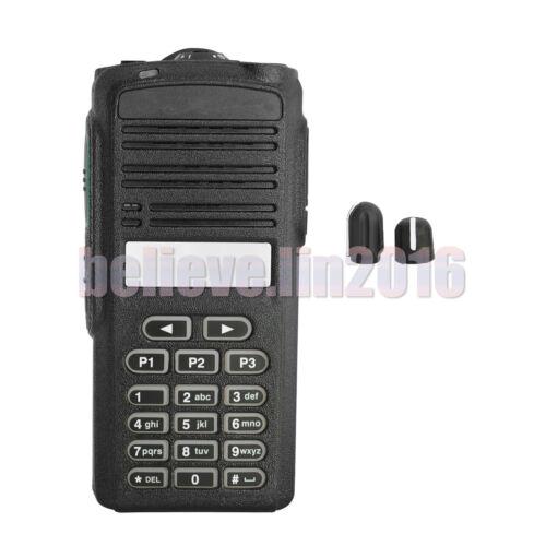 Black  Full-Keypad Front Outer Kit Case Cover  For Motorola CP185  radio