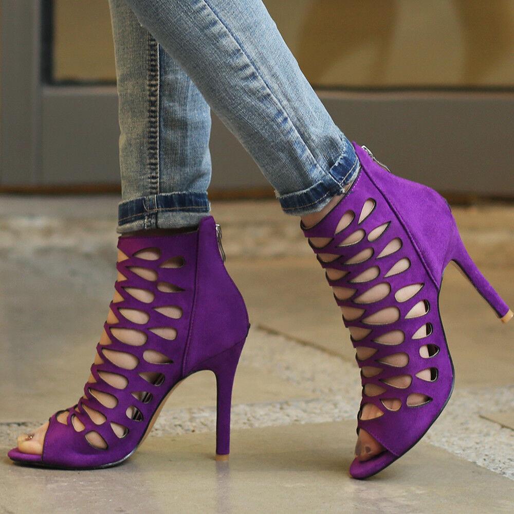 Roman Gladiator Sandals Women High Heels Stilettos Big Size Party Women Sandals Pumps shoes 8382aa