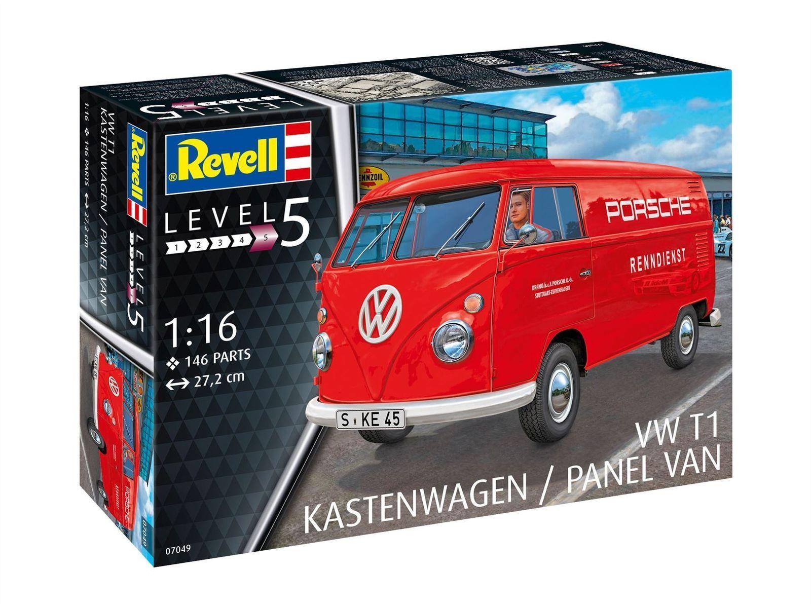 REVELL VW T1 Kastenwagen 1 16 Model Kit 07049