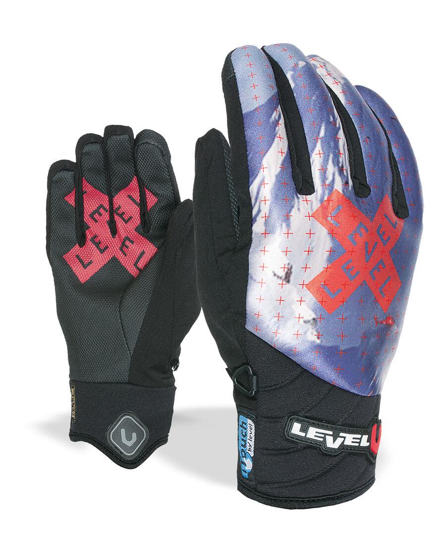 Level Handschuh Glove Skihandschuh Blade Blade Blade Runner blau iTouch Thermo 93bfef