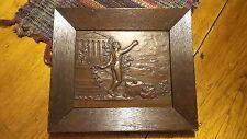 1929 COPPER RELIEF ART,I.L.BR,5KRONN IN DANKBARKEIT Loge Blucher Wahlstadt