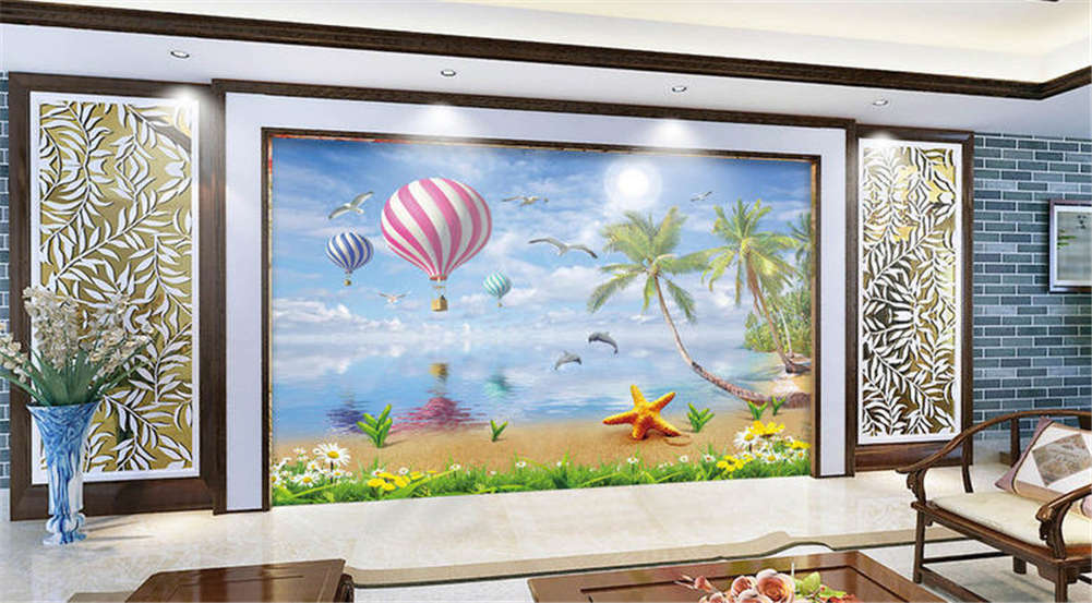 Charming Hot Coconut 3D Full Wall Mural Photo Wallpaper Printing Home Kids Decor