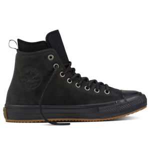 Details about Men's Converse CHUCK TAYLOR ALL STAR WATERPROOF NUBUCK BOOT, 157460C Sizes Black