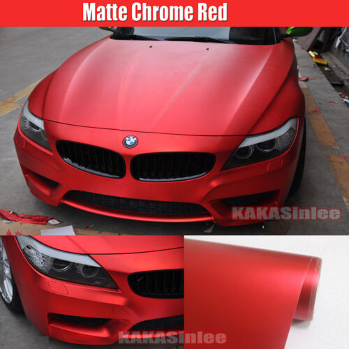 Car Hood Wrap 10FT x 5FT Satin Matte Metal Metallic Chrome Vinyl Sticker AB