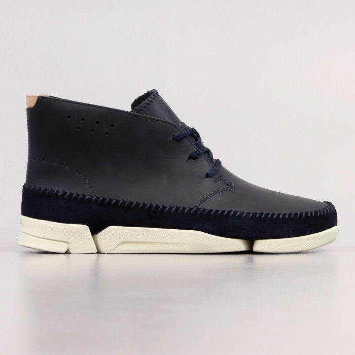 Clarks Originals Uomo ** WALLABEES ** trigenic ** Pelle Nera ** WALLABEES Uk 10/US 11 G 727a0b