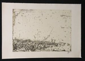 Horst Janssen, Watt pagina, acquaforte, 1984, firmato a mano