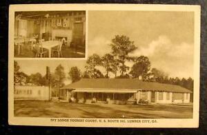 1930-POSTCARD-IVY-LODGE-TOURIST-COURT-LUMBER-CITY-GA