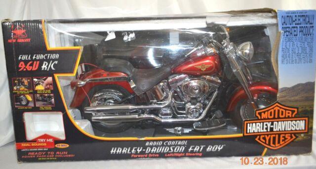 Bright 9 6v Harley Davidson Red Fat Boy Remote Control Rc Motorcycle 6931 For Sale Online Ebay