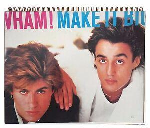 Details about WHAM MAKE IT BIG / George Michael 80s MTV Album Cover  Notebook vintage BRIT POP!