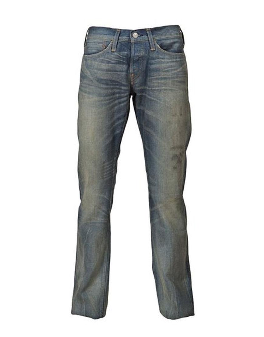 Evisu Geni Uomo No. 4 Cimossa Denim Denim Denim WASEDA Jeans Blu (EVJN057) 0702c2