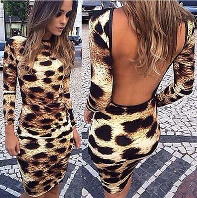 Sexy Women Long Sleeve Bodycon SCasual Party Evening Cocktail Short Mini Dress