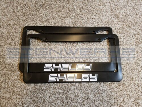 Pair Shelby License Plate Frame Racing mustang ford GT Nascar Outline