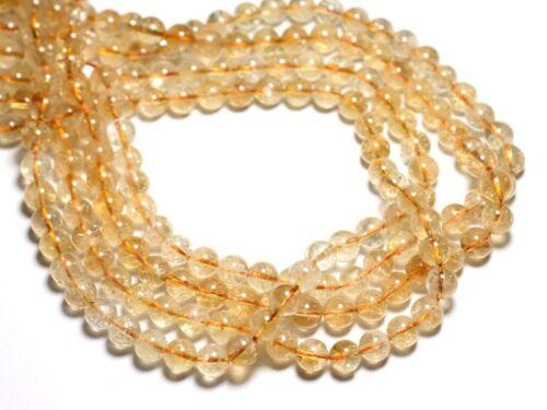 Citrine Boules 8mm Perles de Pierre 4558550084484 4pc