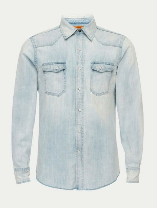 FRAME denim Vaquero Denim Western Shirt Light bluee Washed Small