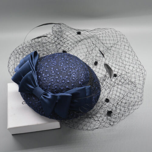 Classic Lace Tulle Women/'s Wedding Party Veil Formal Hat Prom Evening Bow Caps