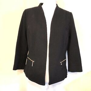 Alfani Women's Blazer Open Front Woven Plus Size 14 Black Attractive Fashion Women's Clothing Suits & Suit Separates