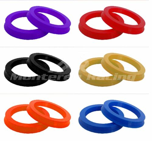 4 COLORED HUBRINGS HUB CENTRIC RINGS 73.1 to 67.1 CHYSLER JEEP