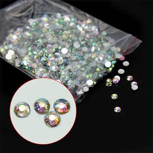1000-Pcs-Set-3mm-Flatback-Crystal-AB-14-Facets-Resin-Round-Rhinestone-Beads-DIY