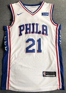 best service 25d3d 71913 Details about *NEW* Joel Embiid Philadelphia 76ers Nike Swingman StubHub  White Men's Jersey