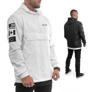 Sixlab-Trademark-Zipper-Jacke-mit-Kapuze-Ubergangsjacke-Windbreaker-Gym-Fitness