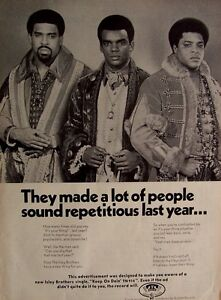 THE ISLEY BROTHERS 1970 Poster Ad KEEP ON DOIN' | eBay