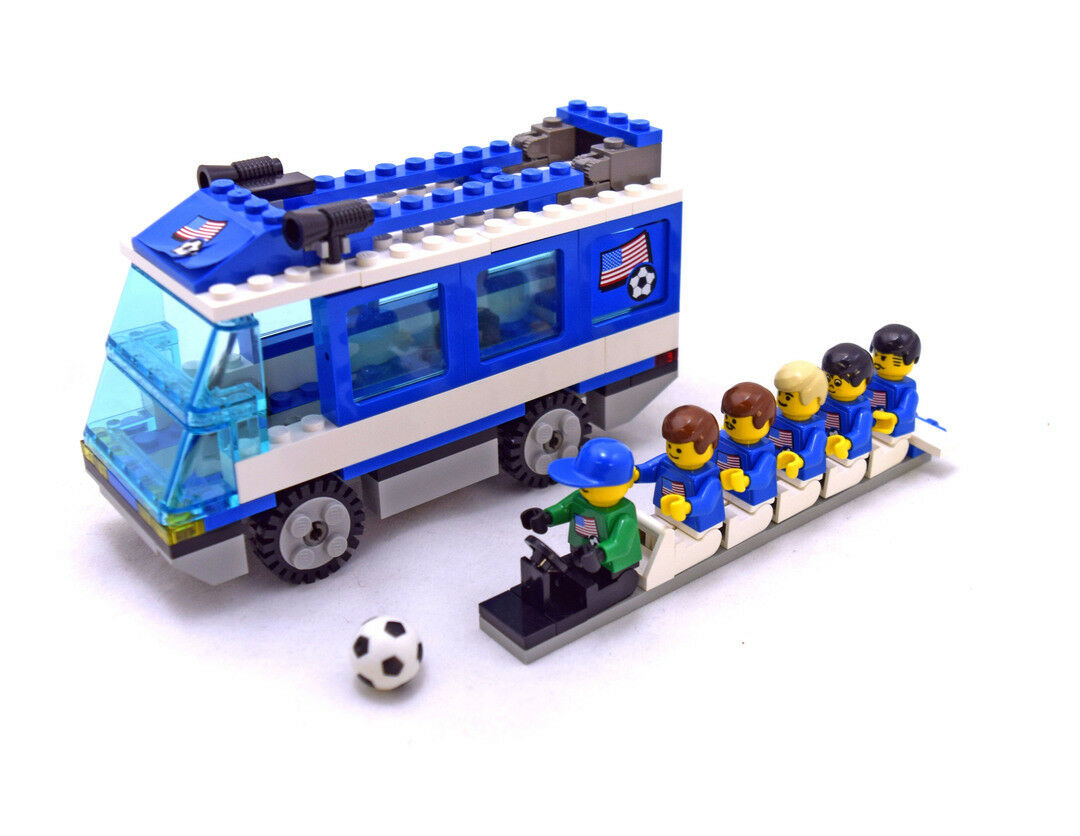 LEGO Sports Set 3406 Soccer Team Transport Americas Bus Football - New - No Box