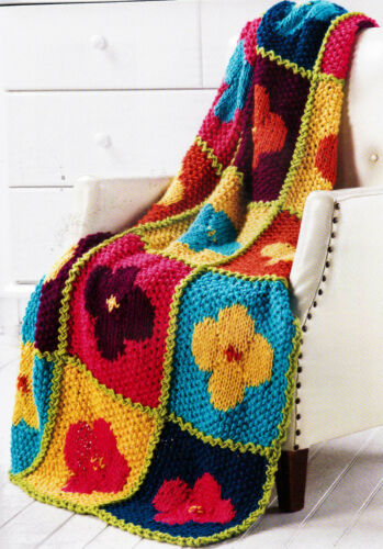 Quick-Knit Designs Afghans Masterpiece Family Heirloom Knitting Pattern Book New