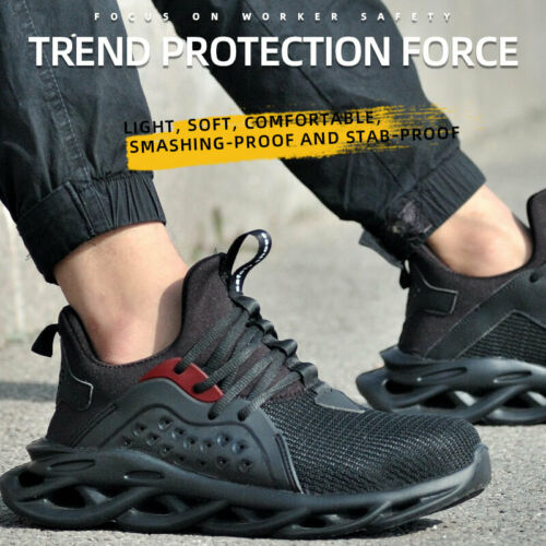 Mens Safety Shoes Indestructible Steel Toe Cap Trainers Work Boots Hiking Shoes