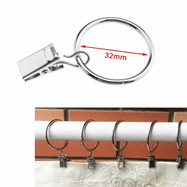 Details about  /36x Silbrig//Schwarz//Bronze Vorhangring Metallhänger Ösen Halten Schwere Vorhänge