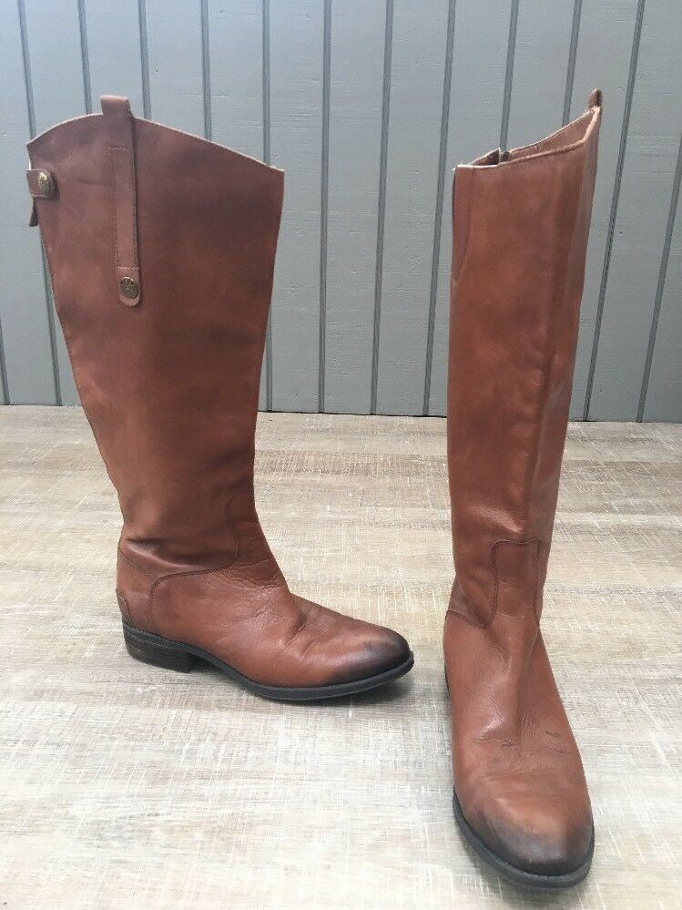 Sam Edelman Penny Women's Brown Knee High Riding Leather Boots Size 8.5