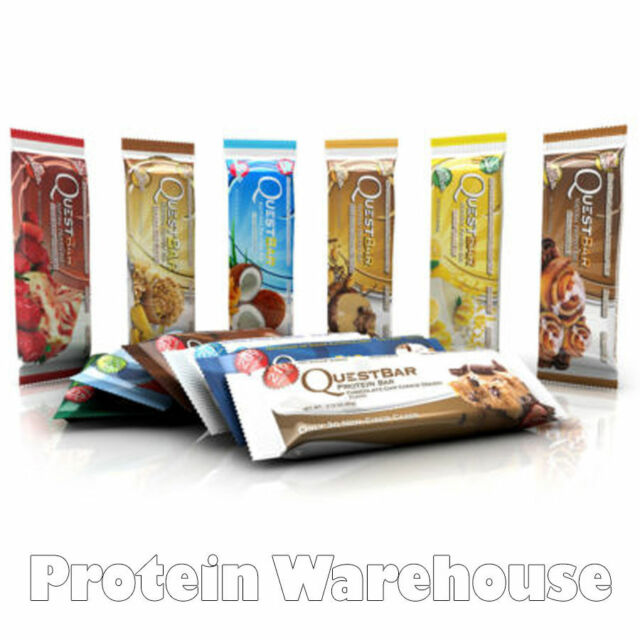 12 X 60g Quest Nutrition Protein Bars Whey Natural ALL FLAVOURS FREE DELIVERY