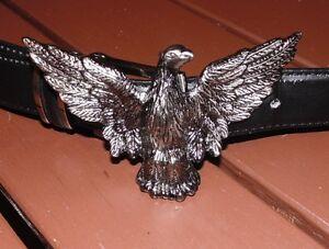 Guertelschnalle-Adler-Buckle-Eagle-Silberfarben-Schnalle-Western-Cowboy