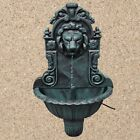 Garden Wall Plaque Water Fountain Feature Lion Head Bird Bath Decor Pump Hose