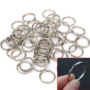 Lot-de-50-anneaux-pour-porte-cles-clefs-metal-argente-rond-bijoux-DIY-15-20mm