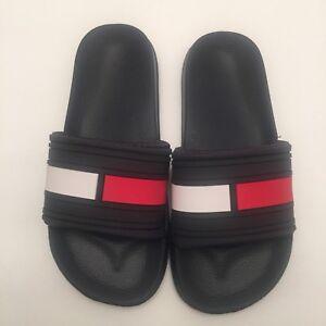 6f899fc6872ba 🔴 Tommy Hilfiger Ernst slides sandals size 3 Youth Kids Boy Girl ...