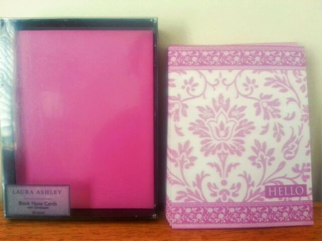 LOVELY Laura Ashley Floral Blank Note Cards With Envelopesin in Trinket Box