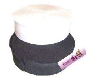 Nero Bianco o Rosa Stretch Elastico Tutte le Taglie 19 mm A 75 mm piatto elastico in vita  </span>