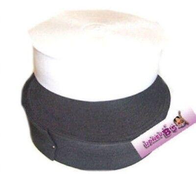 LóGico Negro Blanco O Rosa Stretch Elastic Todos Los Tamaños De 19 Mm A 75 Mm Con Cintura Elástica Plana Fuerte Resistencia Al Calor Y Al Desgaste.